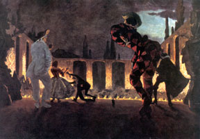 """Итальянская комедия. """"Нескромный Полишинель"""". 1906 г."""